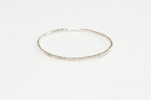 Bangle Hammered Silver