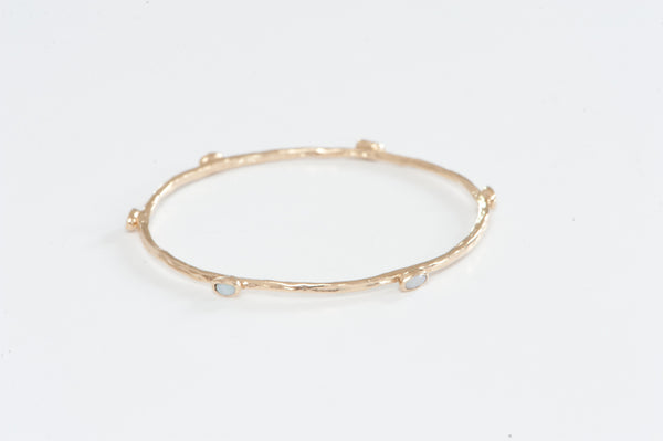 Bangle: Opal & 14k Solid Gold