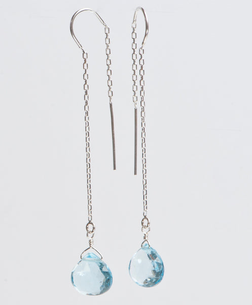 Earrings: Blue Topaz