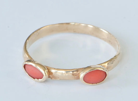 Stackable Ring in Mediterranean Coral