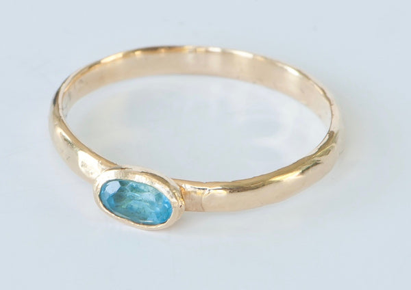 Stackable Ring with Blue Topaz