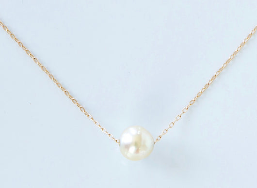 Necklace: Floating Pearl