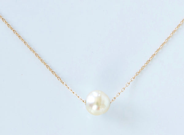 Necklace w/ Floating Pearl