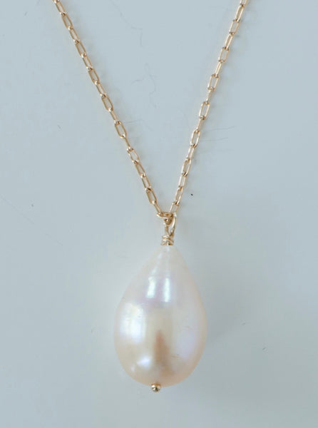 Pearl Drop Necklace Cultured Pearl
