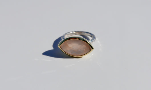 Ring: Rose Quartz Marquis