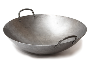 16 Inch Carbon Steel Craft Wok Heavy Canton Style  (Round Bottom) / 731W87