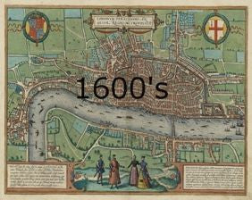 London 1600 Map.Old Map Of London The Old London Map Company