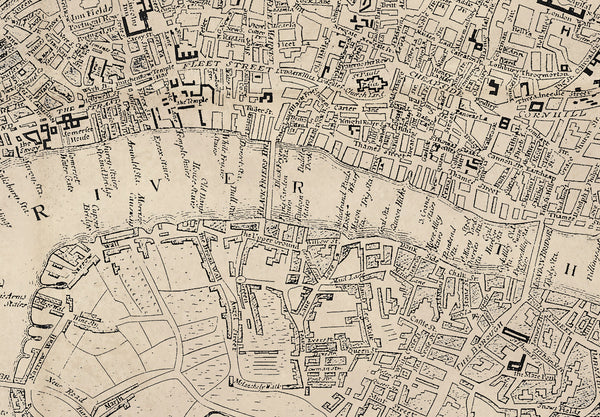 Ellis's Old Town Plan of London 1767