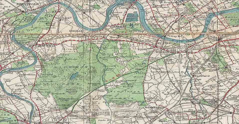 Map F London.1920 Bacon S Old Pocket Map Of London And Environs