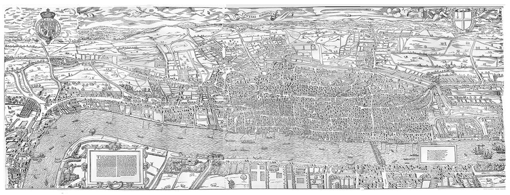 Map of London 16th Century (The Agas Map)