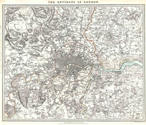 SDUK Environment of London Map 1832