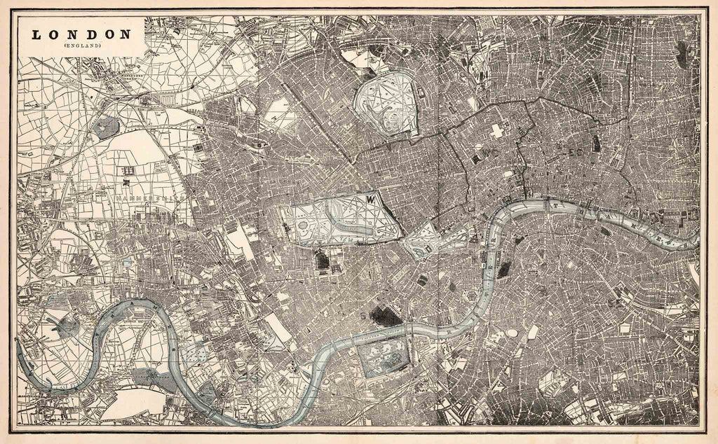 Map To London.Cram S Old Map Of London 1893