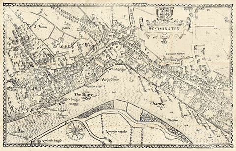 Old Map of Westminster