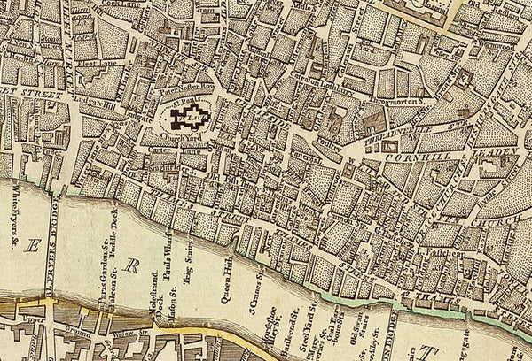 Detail from old London Maps