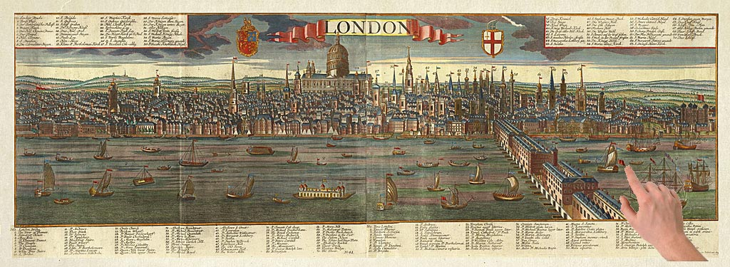 Stunning Panorama of Old London c.1745