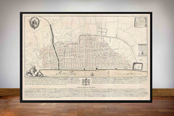 Wren's Map of London 1744
