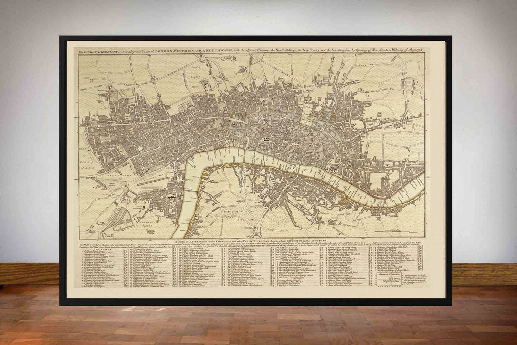 Old Maps of London - Late 1700's