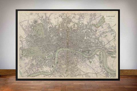 Historical Map of London 1836