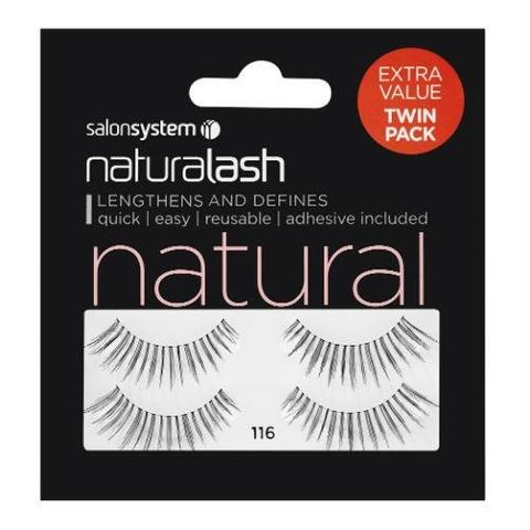 Salon System Naturalash 116 Black Natural (TWIN PACK)