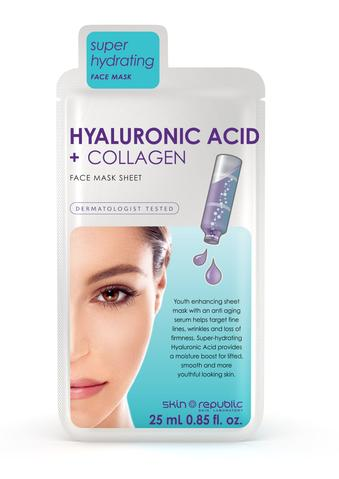 Hyaluronic Acid & Collagen Face Mask Sheet 25ml
