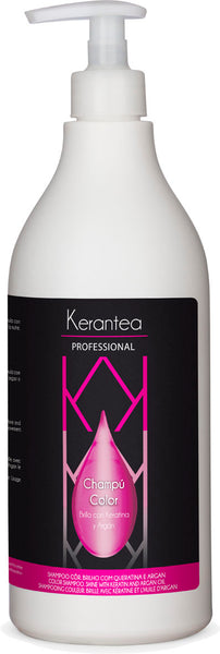Kerantea Professional Champu Color 750ml - Color Shampoo, Shine with Keratin and Argan Oil