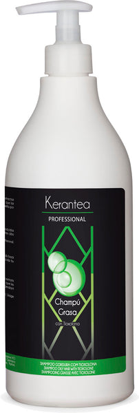 Kerantea Professional Champu Grasa 750ml - Oily Hair Shampoo with Tioxolone