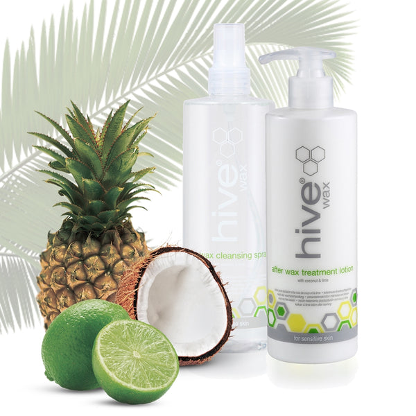 Hive Embrace The Exotic Coconut & Lime Value Pack - Pre Wax Spray & Afterwax Lotion