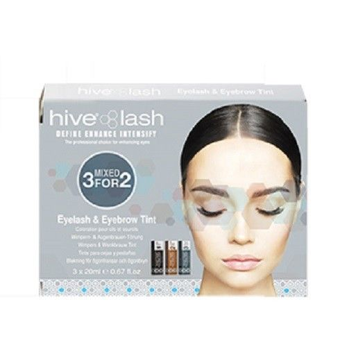 Hive Eyelash and Eyebrow Tint - Mixed Colour Tint: Black, Dark Brown & Light Brown