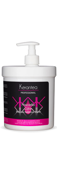 Kerantea Professional Mascarilla Color 1000ml - Brillo con Keratina y Argan