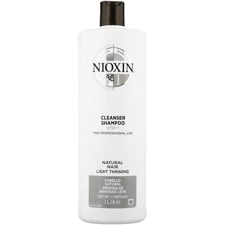 Nioxin - 3D Care System System 1 Step 1 Cleanser Shampoo: For Natural Hair With Light Thinning 1000ml for Men and Women