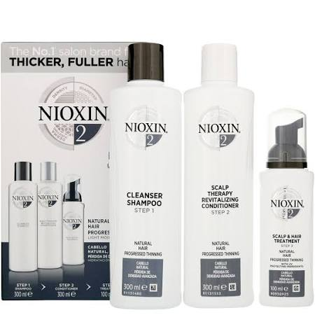 Nioxin - 3D Care System System 2, 3 Part System Kit: For Natural Hair And Progressed Thinning for Men and Women