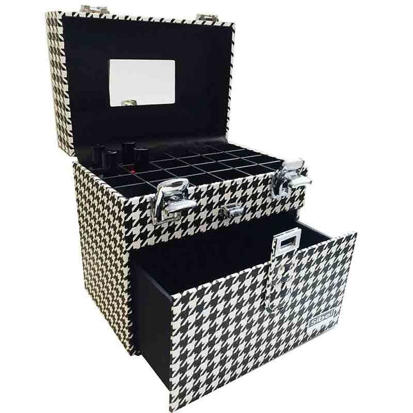 Sibel Nail Polish Case White Black Orange