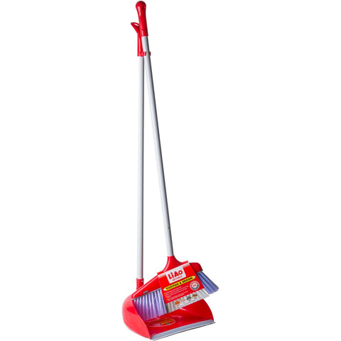 C0021 DUSTPAN & BROOM+HANDLE SET