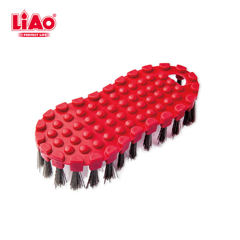 D0013 Red plastic multifunctional household and floor cleaning scrubber brush