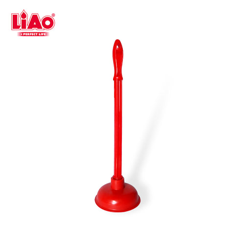 H0003 Hot Selling Long Handle Household PVC Rubber Toilet Plunger