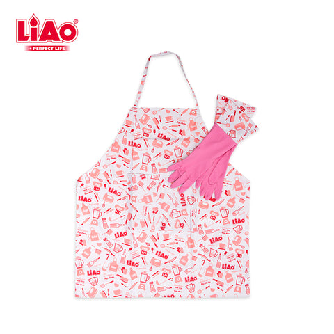 H0025 Natural Latex household Kitchen Apron & Gloves Set