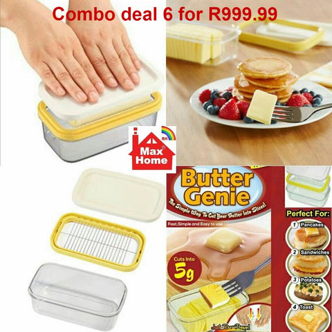 Plastic Butter Genie combo set of 6