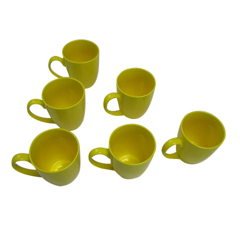 Porcelain Mug (052yellow) set of 6