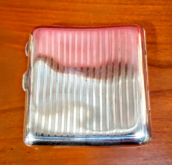 1916 Hallmarked Silver Cigarette Case by W.Neale & Son Ltd Silversmiths