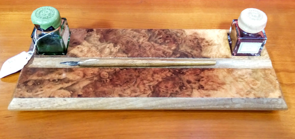 Italian Burr Walnut Desk Set