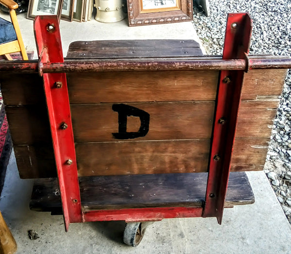 Vintage Industrial Mill / Station cart