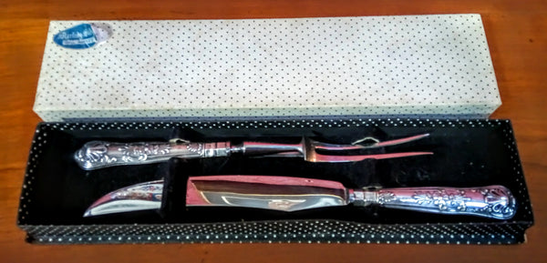 Harrison Brothers Steel and Silver Carving Set