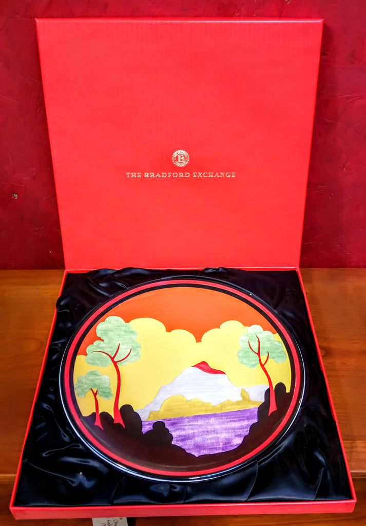 'ETNA' Clarise Cliff Limited Edition Reproduction Centenary Plate 1999