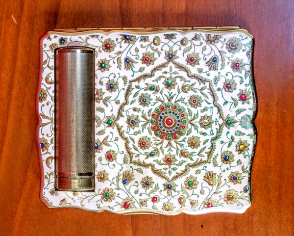 Vintage Sratton Enamelled Duo Compact