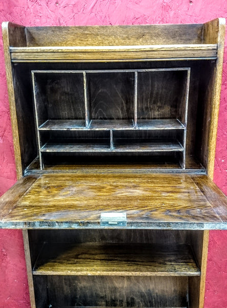 Vintage Oak Desk / Shelf Unit