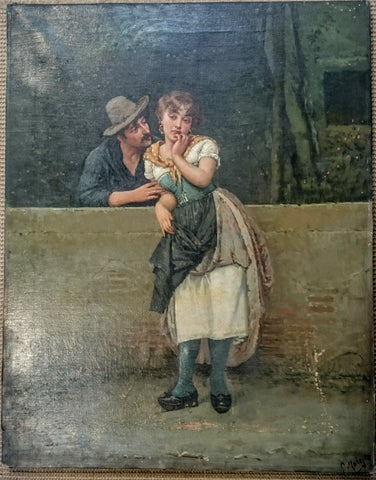 Salvatore Maresca (Early 20th Century Neapolitan School) Oil on Canvas - Unframed