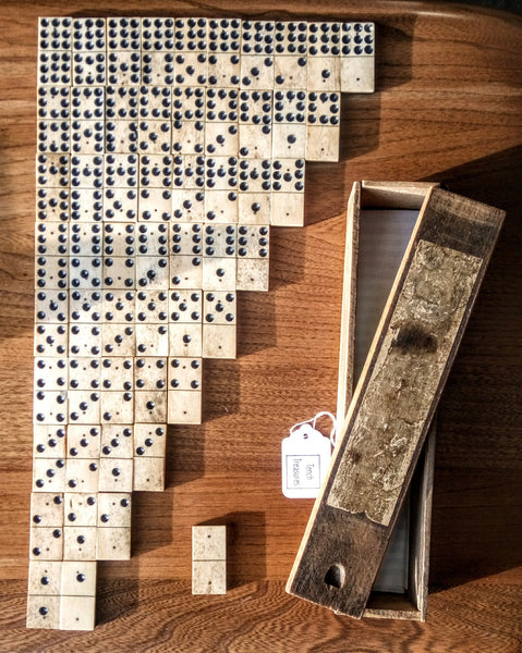 Vintage set of Double 9 Dominoes