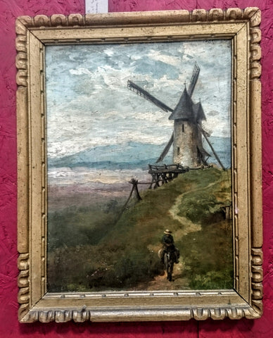 Framed Vintage Belgium Oil on Panel
