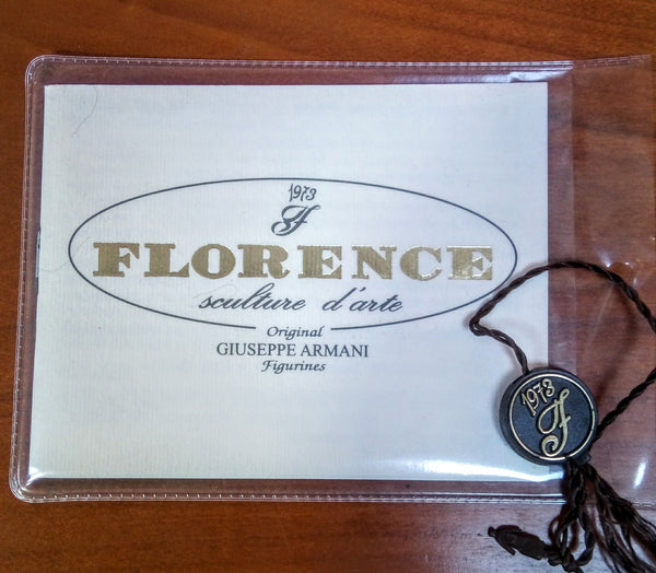 Signed Florence Sculpture D'art by Giuseppe Armani
