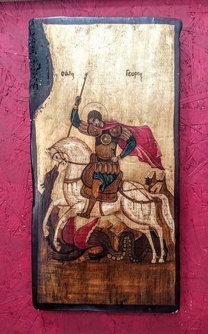 20th Century Religious Icon of St George